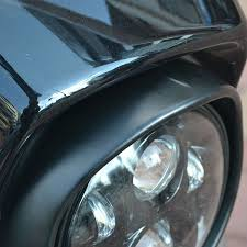 "Black 7"" Headlight Trim Ring"