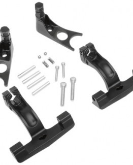 BLACK PASSENGER FLOORBOARD MOUNT KIT